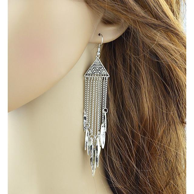 Damen Tropfen-Ohrringe Glücklich damas Modisch Ohrringe Schmuck Silber Für Alltag Verabredung 1 Paar