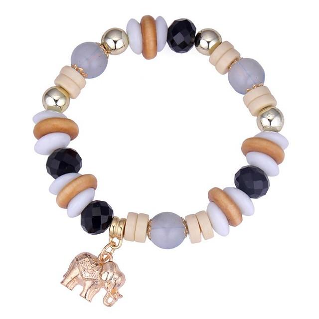 Bracelet à Perles Femme Tanzanite synthétique Bordeaux Eléphant dames Mode Bracelet Bijoux Café Rouge Bleu Forme de Cercle pour Cérémonie Rendez-vous