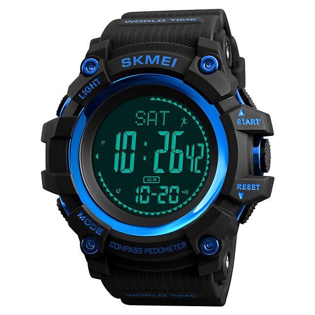 SKMEI رجالي ساعة رياضية ساعة عسكرية ساعة رقمية رقمي كاجوال مقاوم للماء رقمي أسود أحمر أزرق / سنة واحدة / جلد اصطناعي / ياباني / المنبه / الكرونوغراف