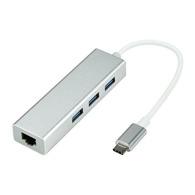 Type-C Adaptateur <1m / 3ft 1 à 3 Aluminium Adaptateur de câble USB Pour Macbook / MacBook Air / MacBook Pro