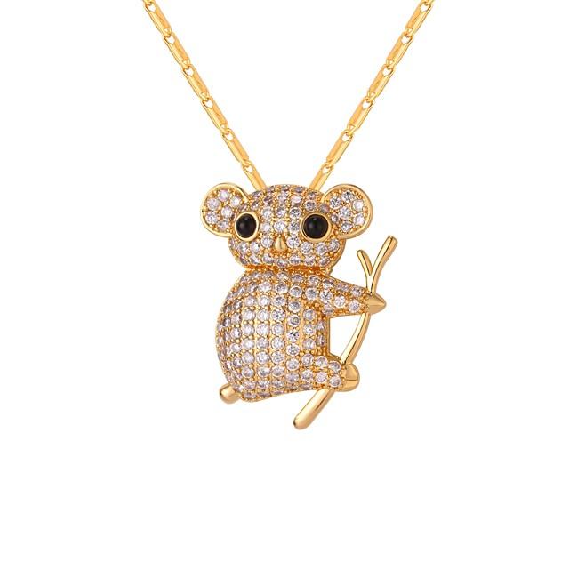 نسائي مكعب زركونيا قلائد الحلي نحاس ذهبي فضي 55 cm قلادة مجوهرات 1PC من أجل هدية مناسب للبس اليومي