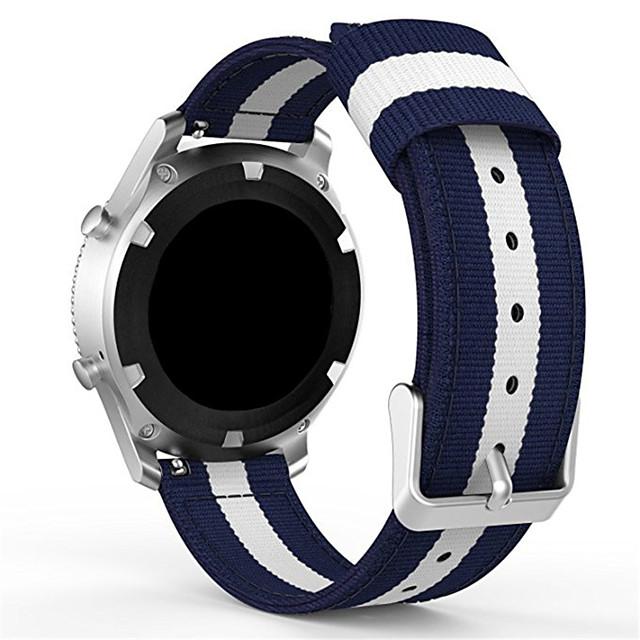 Klokkerem til Gear Sport Samsung Galaxy Moderne spenne Nylon Håndleddsrem
