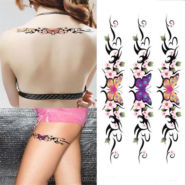 3 pcs ملصقات الوشم الوشم المؤقت سلسلة الزهور / سلسلة رومانسية الفنون الجسم ذراع / كتف