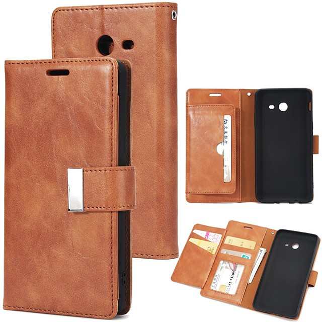 Case For Samsung Galaxy J7 Prime / J7 (2017) / J5 Prime Wallet / Card Holder / Flip Full Body Cases Solid Colored Hard PU Leather