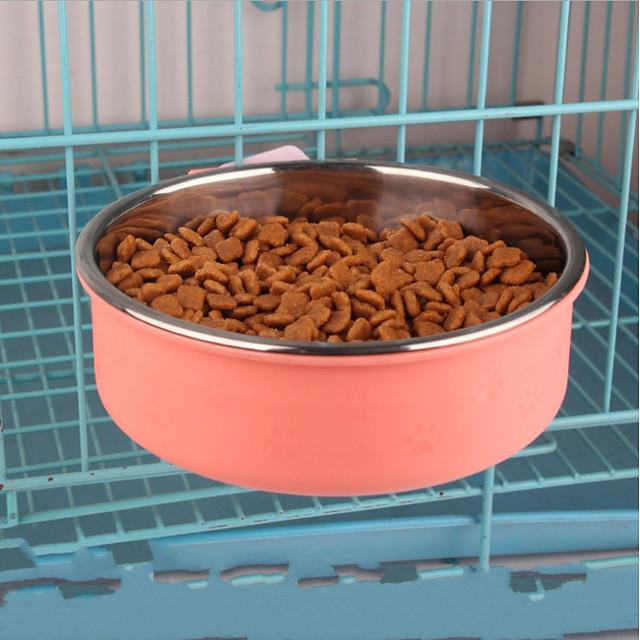 Hunde Hasen Katzen Schalen & Wasser Flaschen / Futter-Vorrichtungen 16,13 L ABS + PC Tragbar haustierfreundlich Solide Grün Blau Rosa Schüsseln & Füttern
