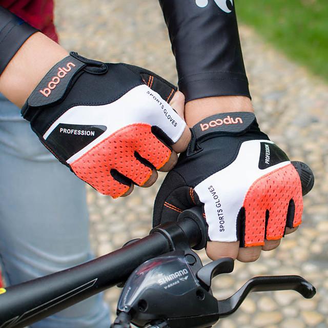 Gants vélo / Gants Cyclisme Gants de VTT VTT Vélo tout terrain Respirable Antidérapant Résistant aux Chocs Protectif Les mitaines Doigt moyen Gants sport Lycra Torchon Noir Grise Orange pour Adulte
