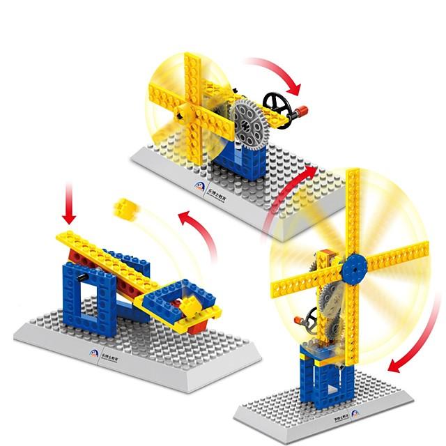 أحجار البناء ألعاب تربوية مجموعة ألعاب البناء 50 pcs خنزير طاحونة هوائية متوافق Legoing مدرسة ضغط اللعب التفاعل بين الوالدين والطفل للصبيان للفتيات ألعاب هدية / للأطفال