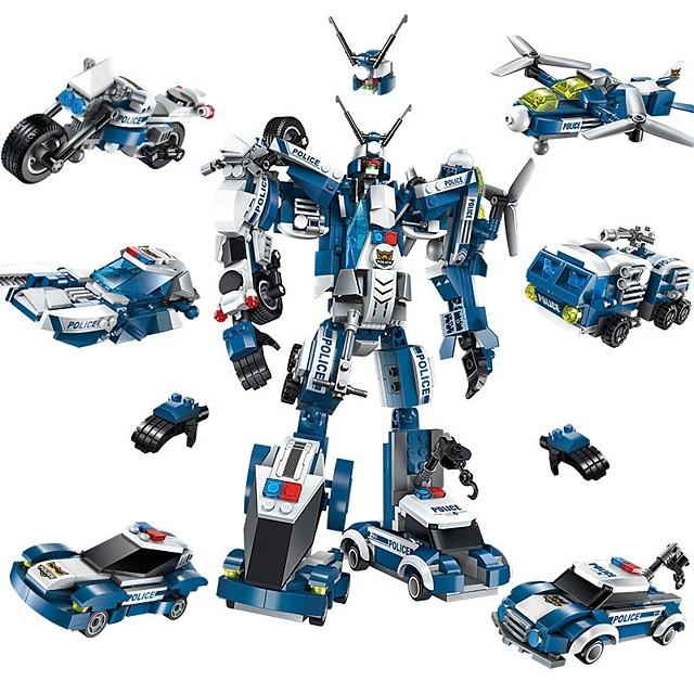 Blocs de Construction Jouet Educatif Jeu de construction Jouets 577 pcs Automatique Robot Avion compatible Carcasse de plastique Legoing Transformable Garçon Fille Jouet Cadeau / Enfant