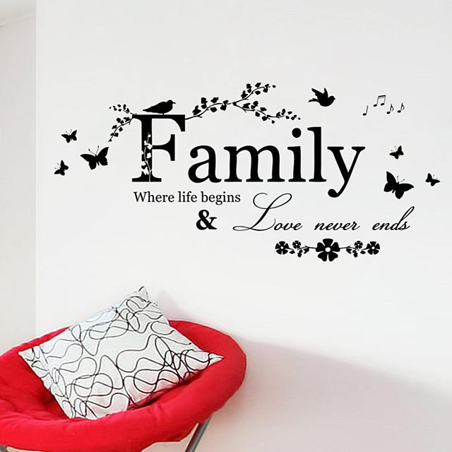 decoratieve muurstickers - woorden& quotes muurstickers karakters woonkamer / slaapkamer / badkamer 57 * 20cm