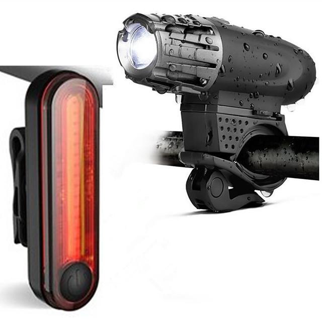LED Eclairage de Velo Kit Eclairage Bicyclette Vélo Rechargeable Eclairage de Vélo Arrière Eclairage sécurité / feu clignotant velo VTT Vélo tout terrain Vélo Cyclisme Imperméable Portable / USB