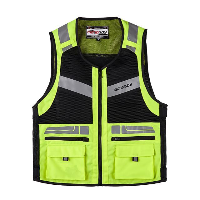 MOTOBOY ملابس نارية Jacketforالرجال قماش اكسفورد / النسيج الشبكي / خامة شبكية تسمح بمرور الهواء كل الفصول رداء واقي / حزام عاكس