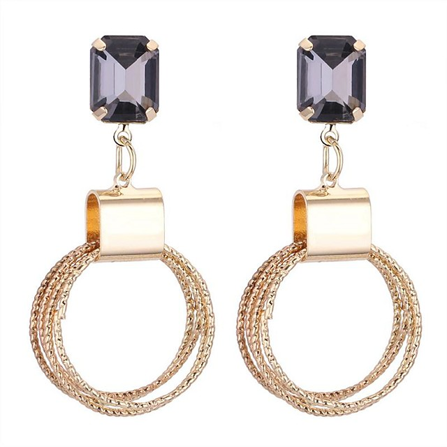 Žene Sintetički dijamant Viseće naušnice dame Stilski Naušnice Jewelry Zlato Za Zabava / večer Izlasci 1 par