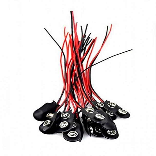 20pcs 9v i introduceți conectorul de fixare a bateriei 9 conectori pentru baterii de baterii de volt