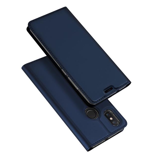 غطاء من أجل Xiaomi Xiaomi Mi Mix 2 / Xiaomi Mi Mix 2S / شياومي مي مكس قلب / نحيف جداً غطاء كامل للجسم لون سادة قاسي جلد PU / Xiaomi Mi 6