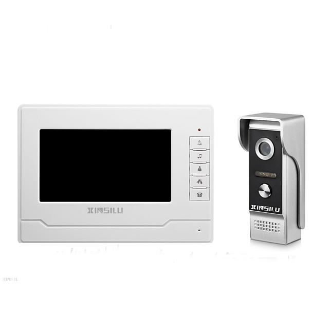 XINSILU® Security 7inch Wired Video Door Phone Doorbell Intercom Door Access Control System XSL-V70N-M4