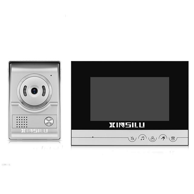 xinsilu xsl-v70k-l sliver multifamily الفيديو الجرس 7 بوصة 800 * 480 بكسل خالية اليدين doorphone فيديو واحد