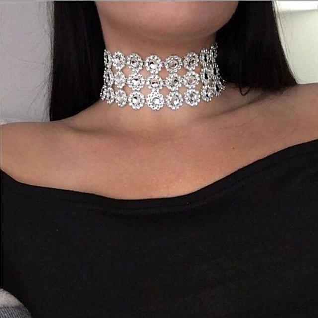 Pentru femei Coliere Choker Multistratificat European Modă Teracotă Alb 30 cm Coliere Bijuterii 1 buc Pentru Casual