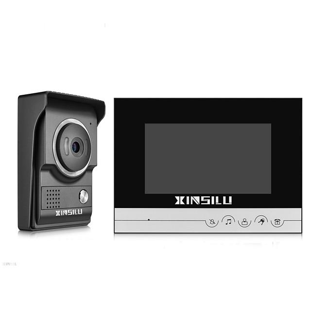 Xinsilu الأمن 7 بوصة السلكية الفيديو باب الهاتف الجرس إنترفون باب الوصول نظام التحكم xsl-v70r-lblack لون الكاميرا