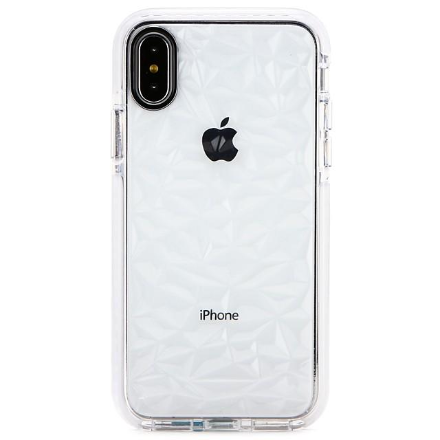 غطاء من أجل Apple iPhone X / iPhone 8 Plus / iPhone 8 نحيف جداً غطاء خلفي لون متغاير ناعم TPU