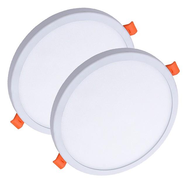 zdm® 2pcs 8 w 40 الخرز LED سهل التثبيت في أضواء LED للوحة LED النازل أبيض دافئ أبيض بارد 85-265 V سقف تجاري منزلي مكتب Rohs CE معتمد 90