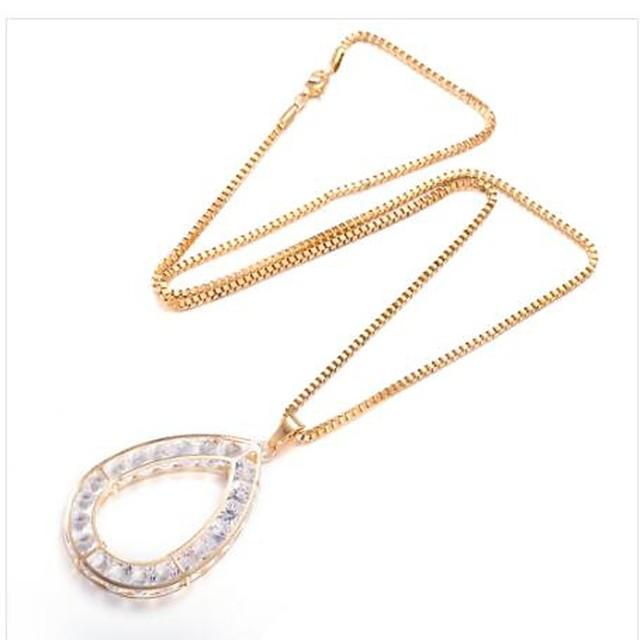 نسائي مكعب زركونيا قلائد الحلي قطرة سيدات موضة مطلية بالذهب ذهبي 75 cm قلادة مجوهرات 1PC من أجل هدية مناسب للبس اليومي
