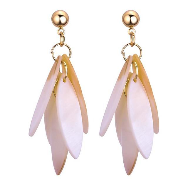 نسائي أقراط قطرة سيدات حلو موضة الأقراط مجوهرات أبيض من أجل مناسب للبس اليومي مناسب للخارج 1 زوج