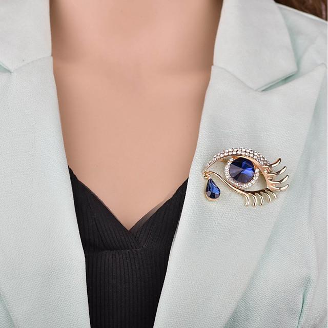 نسائي دبابيس 3D عيون سيدات ترف أوروبي بروش مجوهرات ذهبي فضي من أجل حفلة ليلية المكتب & الوظيفة
