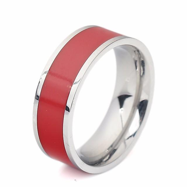 خاتم الراتنج ستايل أبيض أسود أحمر راتينج الصلب التيتانيوم خلاق سيدات أنيق شائع 1PC 7 8 9 10 11 / الزوجين
