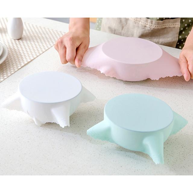 22.5cm غطاء سيليكون عاء شفط وعاء عموم قابلة لإعادة الاستخدام غطاء للمد