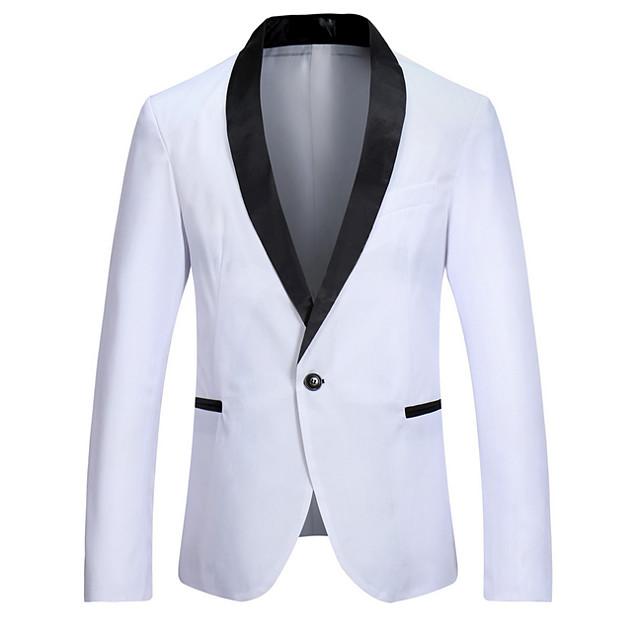 رجالي V رقبة سترة عادية ألوان متناوبة مناسب للخارج كم طويل أبيض / أسود / نبيذ S / M / L