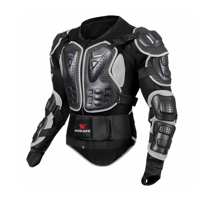 WOSAWE オートバイの保護装置 のために ジャケット フリーサイズ メッシュ生地 / EVA 耐衝撃 / 保護 / 簡単なドレッシング