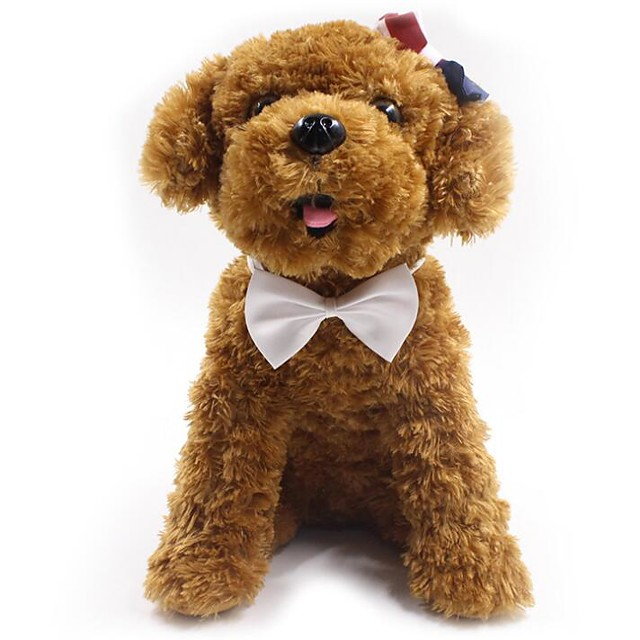 كلاب قطط ربطة عنق ربطة العنق عقدة الديكور لون سادة ببيونة قماش أصفر أحمر زهري