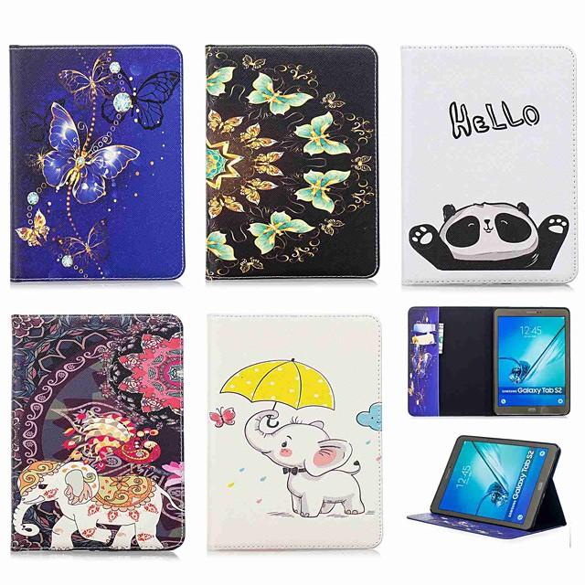 غطاء من أجل Samsung Galaxy Tab S2 9.7 محفظة / حامل البطاقات / مع حامل غطاء كامل للجسم فيل قاسي جلد PU