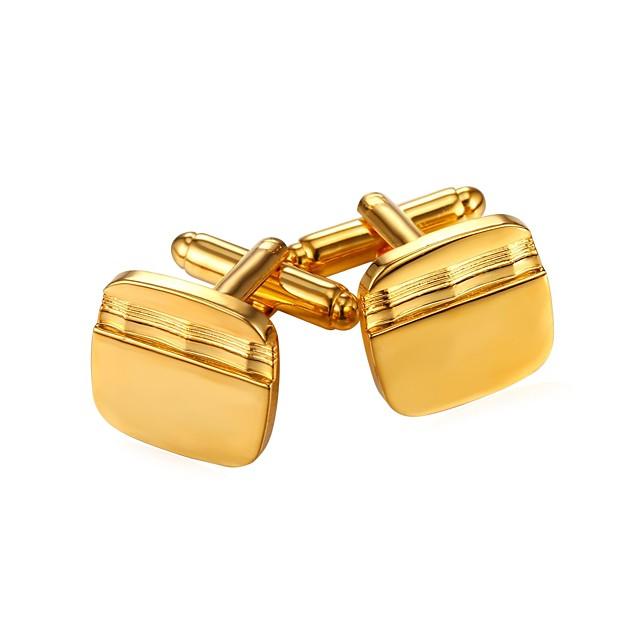 أزرار أكمام بسيط موضة بروش مجوهرات أسود فضي ذهبي من أجل هدية مناسب للبس اليومي