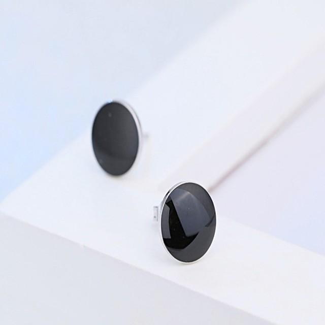 Heren Oorknopjes Klassiek Stijlvol Goedkoop oorbellen Sieraden Zwart Voor Dagelijks Toimisto & ura 1 paar