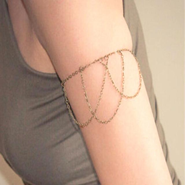 سلسلة الذراع سيدات بسيط موضة نسائي مجوهرات الجسم  من أجل نادي الحانة Bar قديم سبيكة خلاق ذهبي فضي 1PC