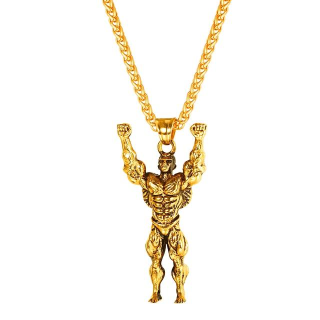 رجالي قلائد الحلي ستايل سنغافورة خلاق غلو موضة الفولاذ المقاوم للصدأ أسود ذهبي فضي 55 cm قلادة مجوهرات 1PC من أجل هدية مناسب للبس اليومي