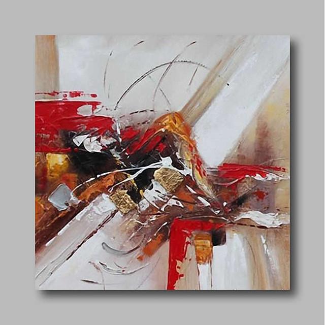 Peinture à l'huile Hang-peint Peint à la main Carré Abstrait Contemporain Moderne Inclure cadre intérieur
