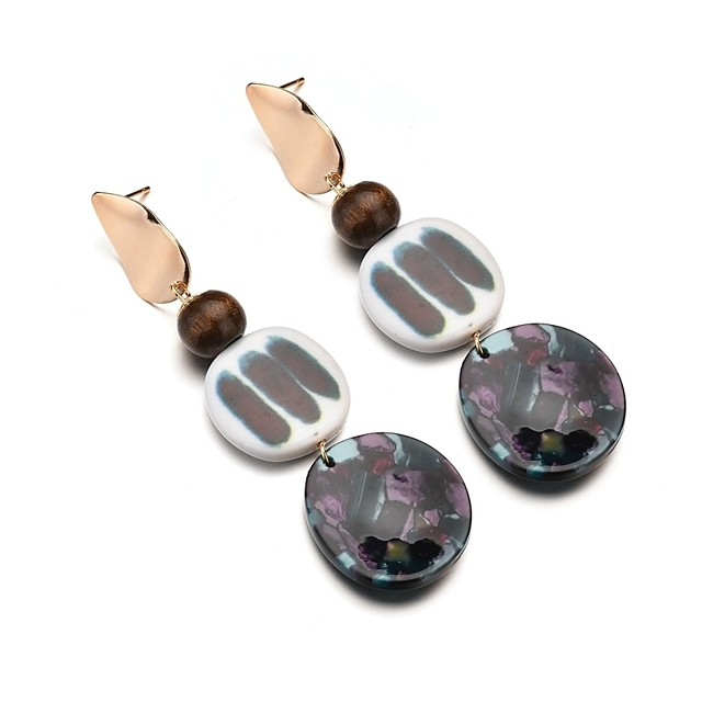 نسائي أقراط قطرة طويل سيدات شائع راتينج الأقراط مجوهرات أسود من أجل مناسب للعطلات الحانة Bar 1 زوج