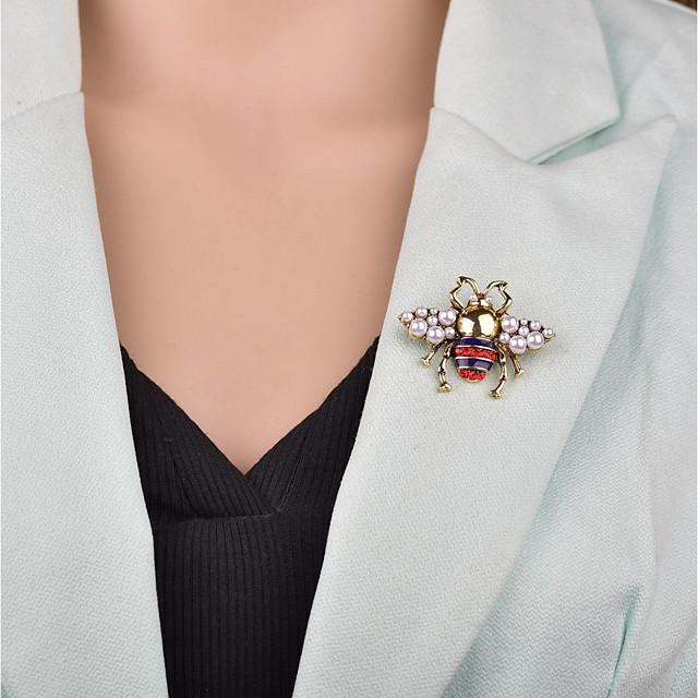 نسائي دبابيس 3D نحلة سيدات كرتون أوروبي بروش مجوهرات ذهبي من أجل حفلة ليلية المكتب & الوظيفة