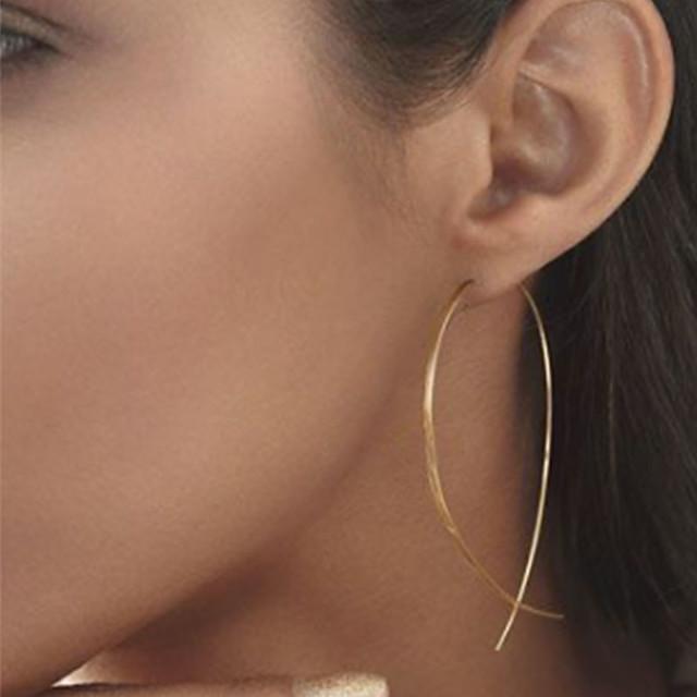 Dames Oorknopjes Dames Eenvoudig Elegant Europees Eenvoudige Stijl Modieus oorbellen Sieraden Gouden / Zwart / Zilver Voor Feest Dagelijks Causaal