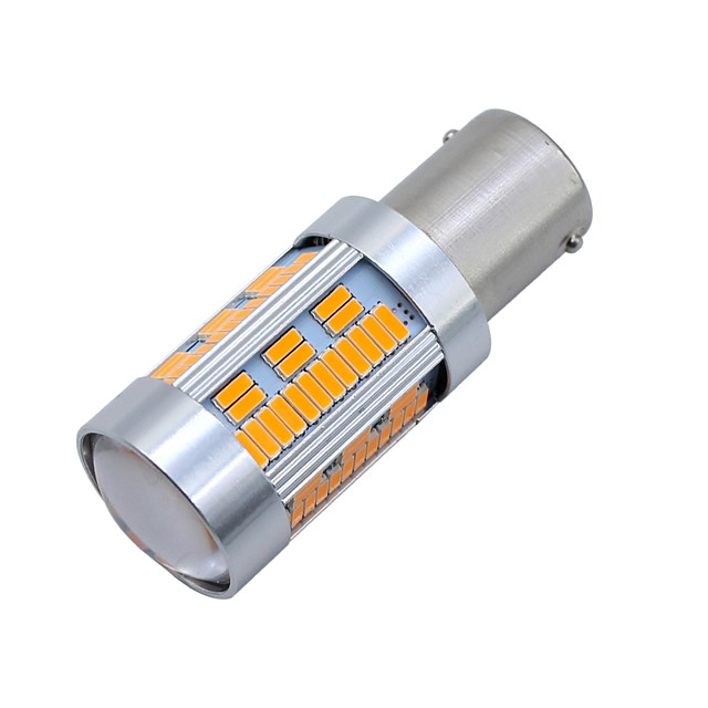 SO.K 2pcs BAU15S سيارة لمبات الضوء 10 W مصلحة الارصاد الجوية 4014 1800 lm 105 LED أضواء الخارج من أجل عالمي كل السنوات