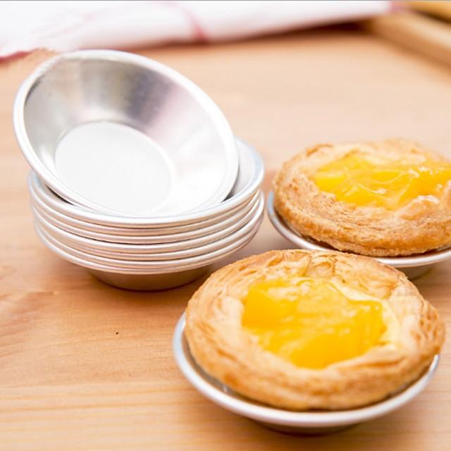 6 unids tarta de la magdalena titular de la galleta pudín huevo molde molde de aluminio para hornear pasteles herramientas