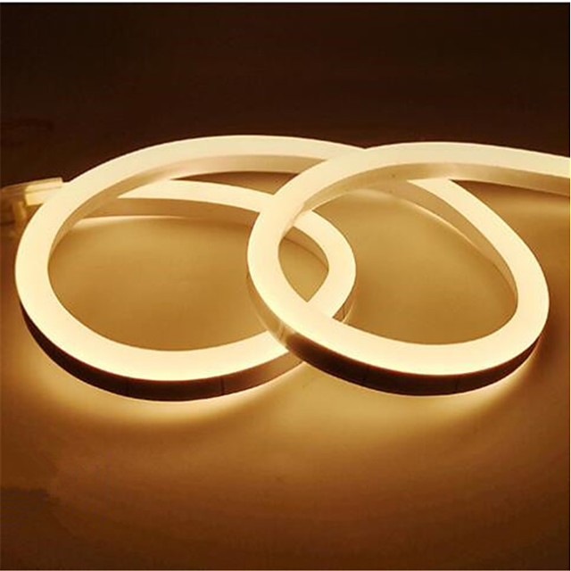 1M شرائط قابلة للانثناء لأضواء LED 120 المصابيح 2835 SMD 1PC أبيض دافئ أبيض أصفر ضد الماء قابل للقص ديكور 12 V