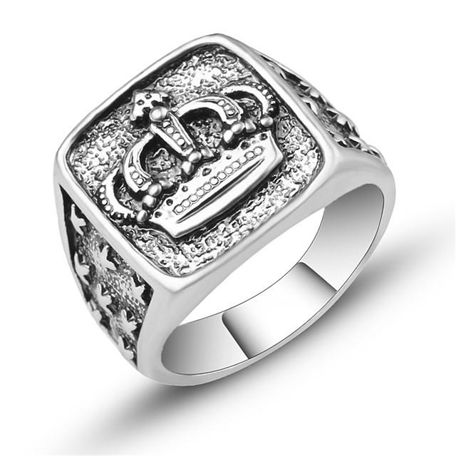 Ring Skulptur Silber Aleación Krone Retro Europäisch Modisch 1pc 7 8 9 1 / Herrn