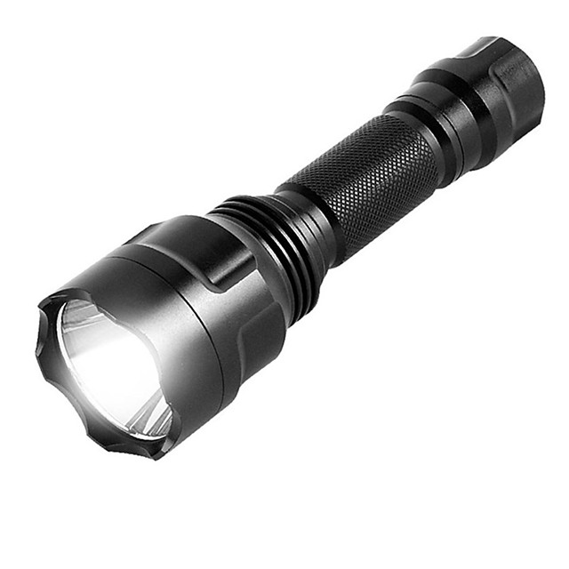 ismartdigi i-8T6 LED Flashlights LED بواعث محمول المضادة للالإنزلاق Camping / Hiking / Caving Everyday Use الصيد أسود