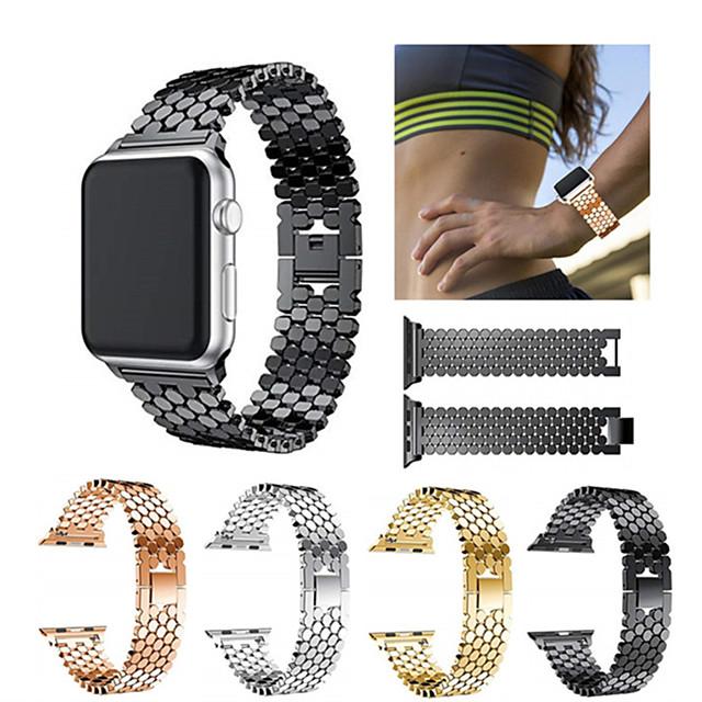Cinturino intelligente per Apple  iWatch 1 pcs Cinturino sportivo Acciaio inossidabile Sostituzione Custodia con cinturino a strappo per Apple Watch Serie SE / 6/5/4/3/2/1 38 millimetri 40 mm 42