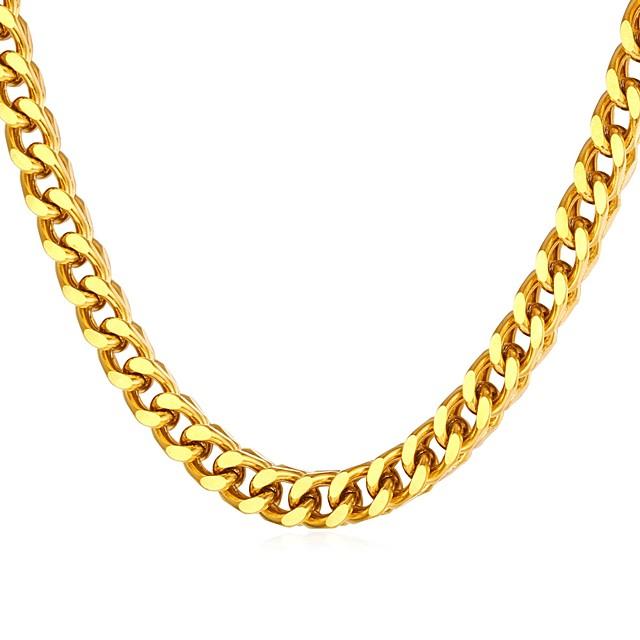 رجالي عقد سلسلة سميكة سلسلة مارينر موضة الفولاذ المقاوم للصدأ ذهبي فضي 55 cm قلادة مجوهرات 1PC من أجل هدية مناسب للبس اليومي