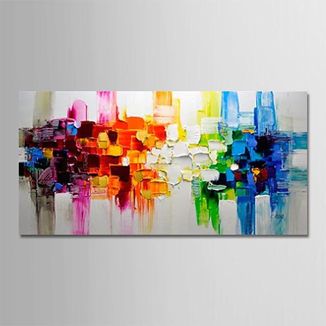 Hang oslikana uljanim bojama Ručno oslikana - Sažetak Pejzaž Moderna Bez unutrašnje Frame / Valjani platno