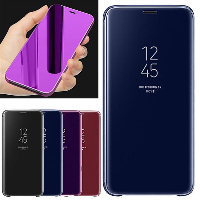 Kılıf Na Samsung Galaxy A6+ (2018) Z podpórką / Lustro Pełne etui Solidne kolory Twardość Skóra PU
